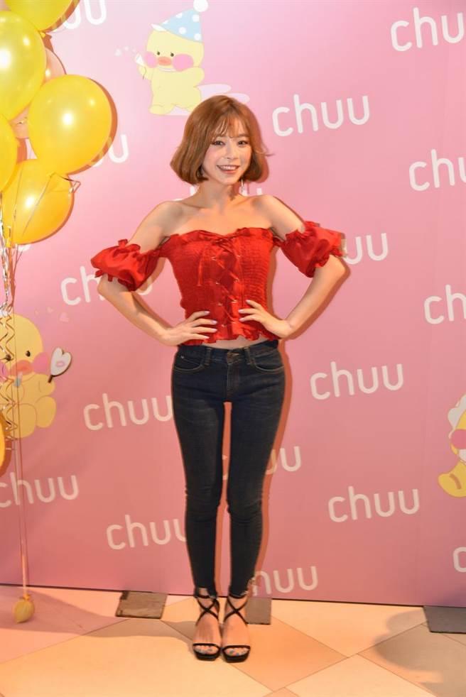Taeri表示平時喜愛穿著針對小個子女孩設計的CHUU嬌小哈比版魔法顯瘦-5公斤褲系列