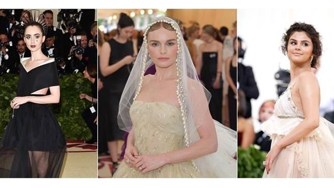 Lily Collins、Kate Bosworth、Selena Gomez在MET Gala紅毯上各自展演不同的美麗風情,在妝前保養上她們也都有著自己的堅持喔。(圖/網路、品牌提供)