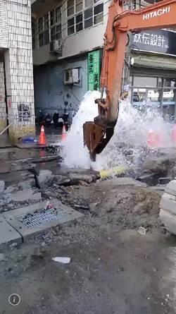 中山一路工程又出包 水管挖破影響2704戶停水