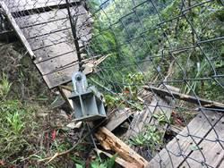 雲龍吊橋突斷掉 八通關東埔、觀高段中斷