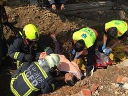 驚悚! 女騎士跌落工地 鐵條插頸搶救中