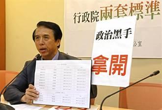 藍委批政院借調兩套標準 徐國勇:政府不是營利事業