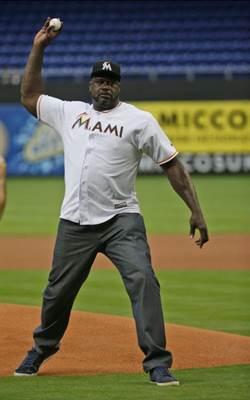 MLB》俠客歐尼爾開球 馬林魚打敗勇士
