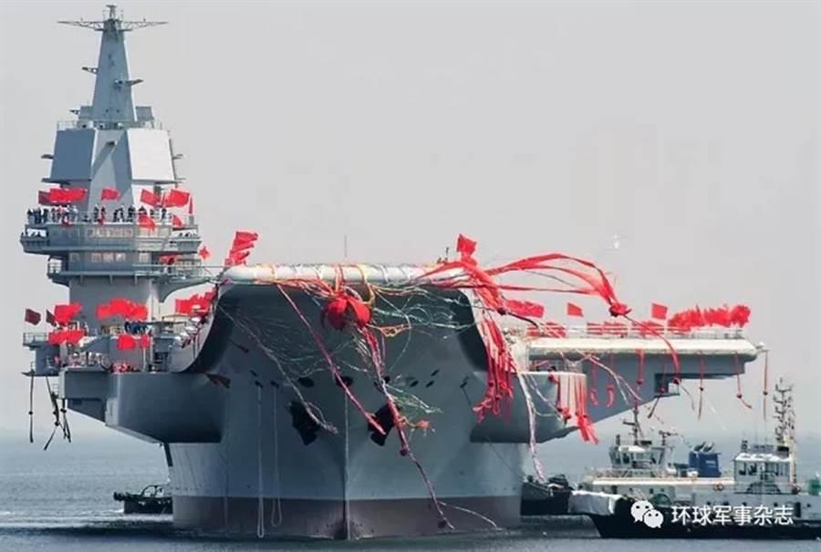 中共海軍首艘國產航母深受外界矚目。(圖片來源/中國軍網)