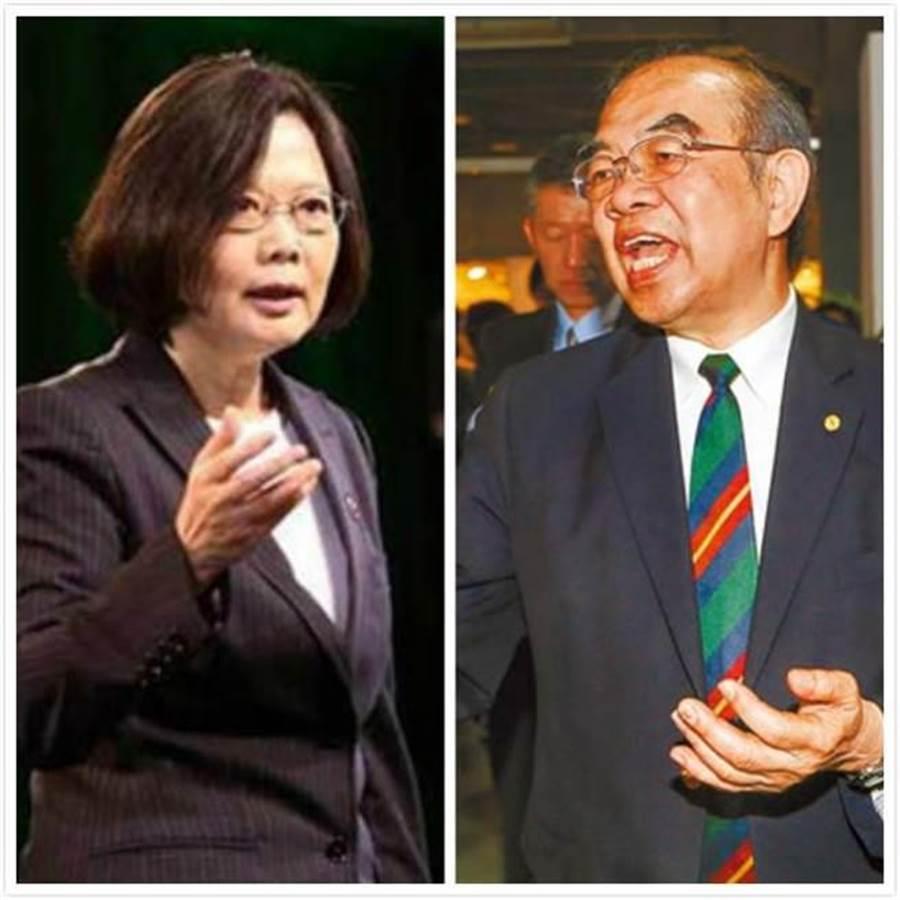 總統蔡英文(左)、教育部長吳茂昆(右)。(合成圖/中時資料照片)