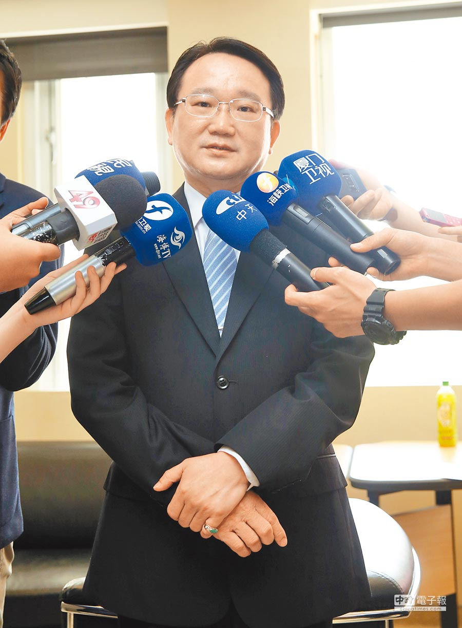 致公黨主席陳柏光。(本報系記者陳信翰攝)