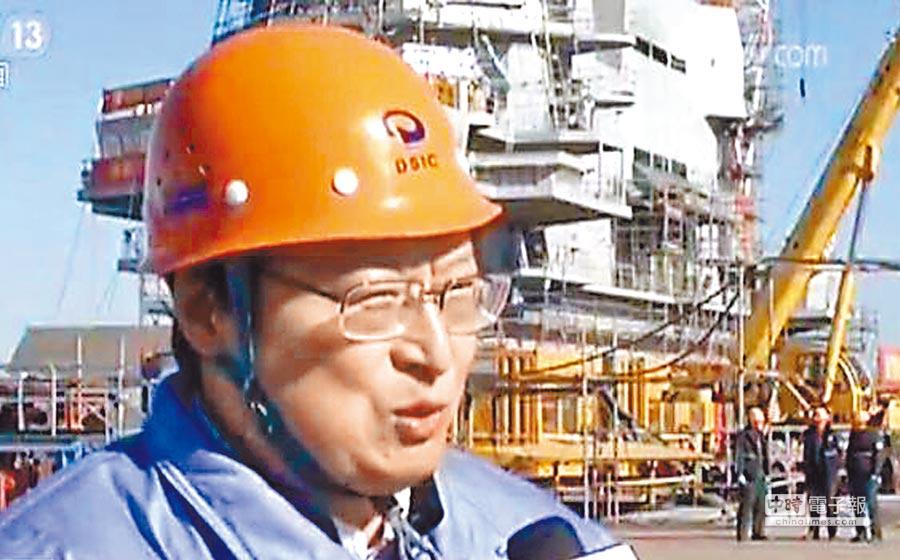 中船重工董事長、航母工程總指揮胡問鳴。(取自央視網)
