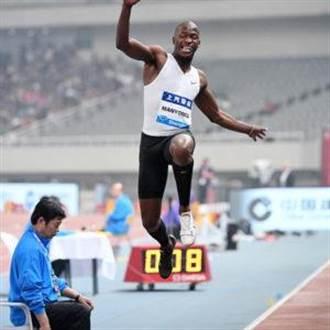 里奧跳遠銀牌名將曼永加參加台灣田徑公開賽