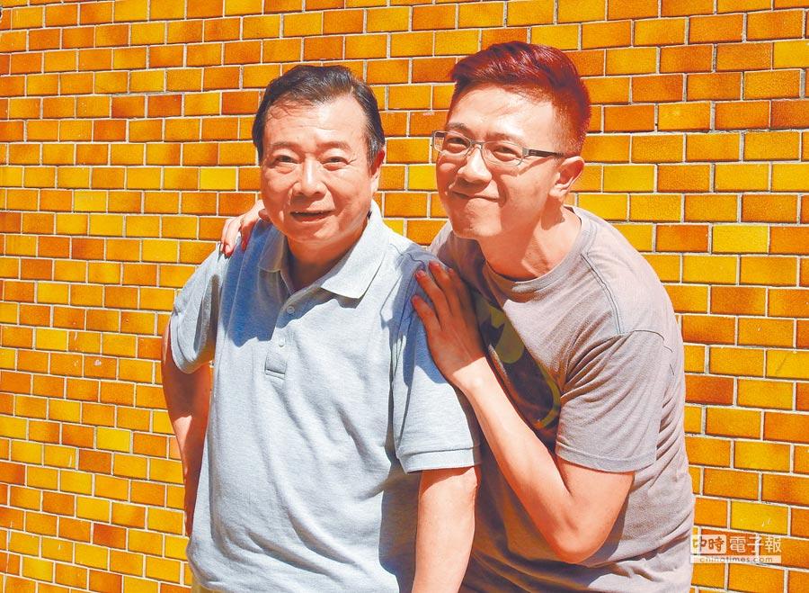 廖峻(左)與兒子廖錦德首度戲劇合作演父子。