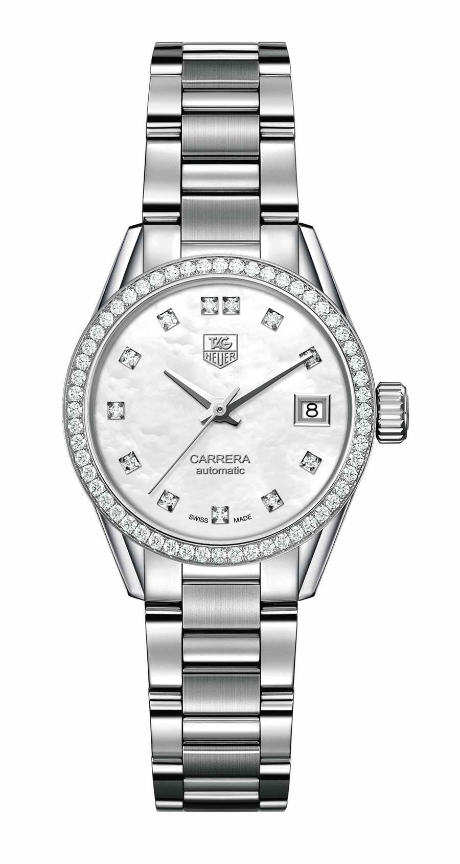 泰勒豪雅Carrera Lady鑽表,15萬6500元。(TAG Heuer 提供)