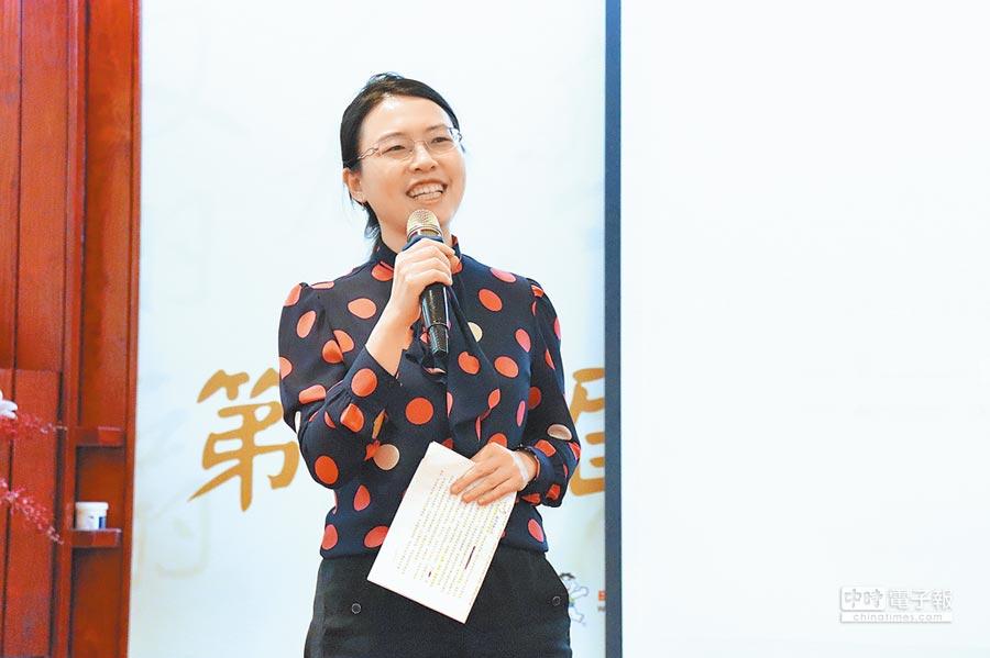 福貞控股執行副總李毓嵐。(記者呂佳蓉攝)