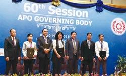 呂正華率團出席APO 綠色生產力貢獻獲肯定