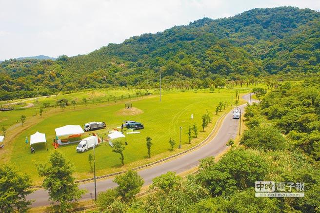 台北能源之丘2.0動土,啟用後預估年發電量最高達100萬度,可供280戶一般家庭1年用電。(張立勳攝)