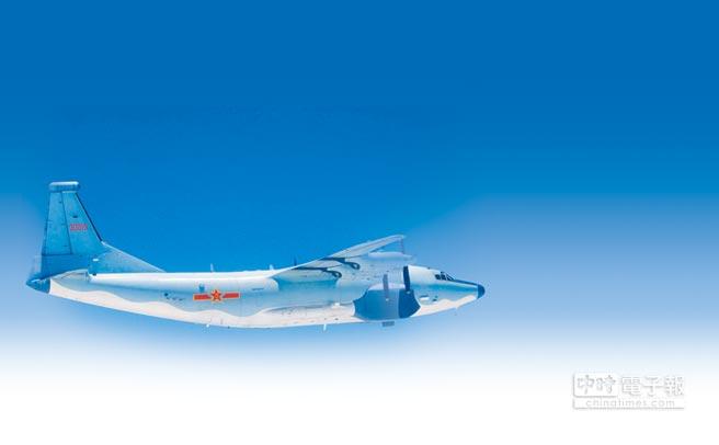 繞台的大陸運-8機。(本報系資料照片)