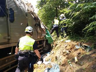景山又闖禍!上次撞死國道警 這次司機酒駕撞山壁
