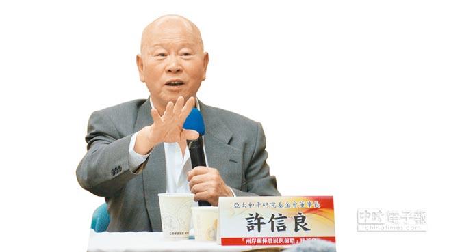 民進黨前主席許信良直言,台灣很多人想改變現狀,恐怕會先引發內亂。(潘維庭攝)