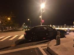 騎贓車遇臨檢心虛急彎 警追6公里竊賊撞車仍被遁逃