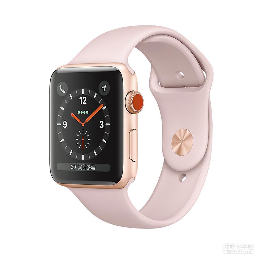 1.Apple Watch Series 3,以表冠的紅點區分為GPS+行動網路版本,1萬2900元起。(取材自蘋果官網)
