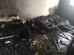 中市東區民宅火警 男20%二度燒燙傷