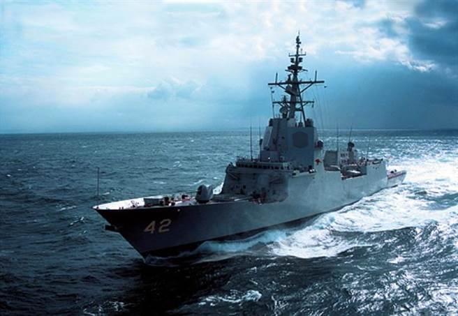 澳洲海軍的第3艘神盾驅逐艦雪梨號(DDG-42)下水,預計在2020年成軍。此圖為概念圖,還未海試。(圖/澳洲海軍)