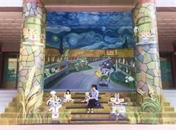 梵谷麥田與石虎家族相遇 大雅3D彩繪牆成拍照熱點