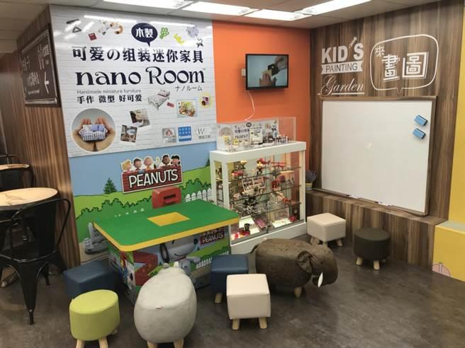 家樂福便利購錦州店特別設置「兒童遊樂區」,滿足親子客群!圖/業者提供