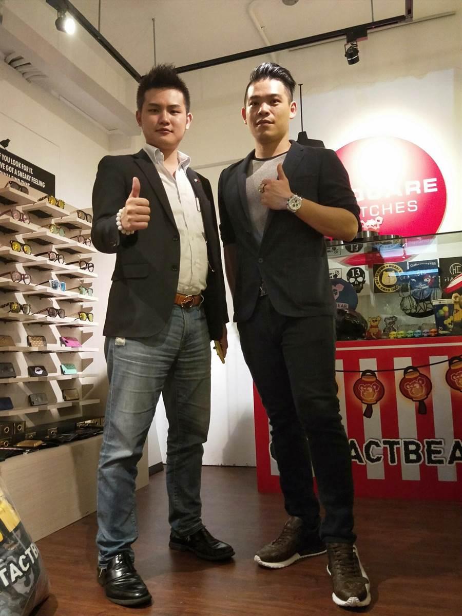 梁軒安(左)表示黃景裕在商場的表現值得學習。