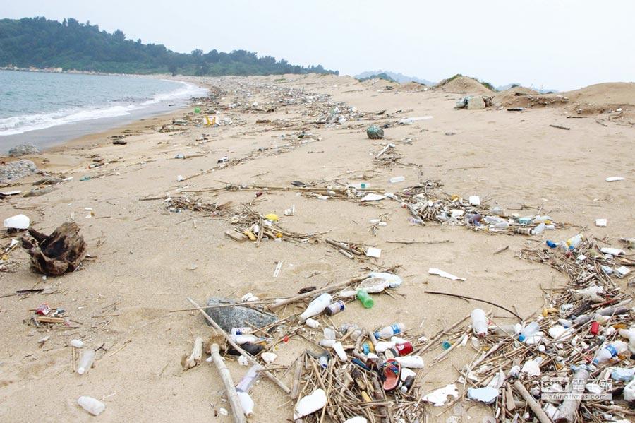 台灣每年用掉180億個塑膠袋、45億支寶特瓶、15億個飲料杯與6萬噸免洗餐具,這些都是海漂垃圾的常客。圖/本報資料照片