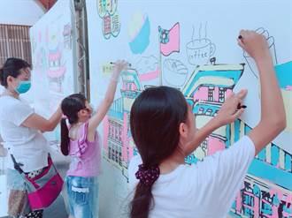 竹市幸福廣場親子彩繪古城  為舊城增添色彩