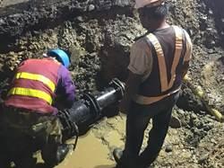 中市管線破裂漏水 搶修提早完成逐步恢復供水