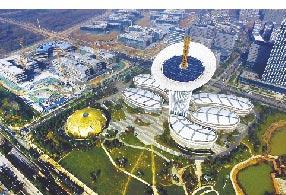 武漢東湖高新區六大園區之一的武漢未來科技城。(新華社)