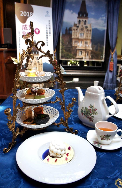 ▲清境老英格蘭下午茶競賽,得獎前3名作品今在清境老英格蘭莊園展示。(楊樹煌攝)
