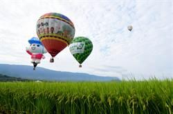 台東熱氣球嘉年華開跑 飛越稻浪揭序幕