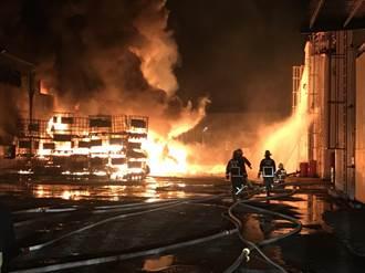 全興工業區火警如火山爆發 狂燒8小時撲滅