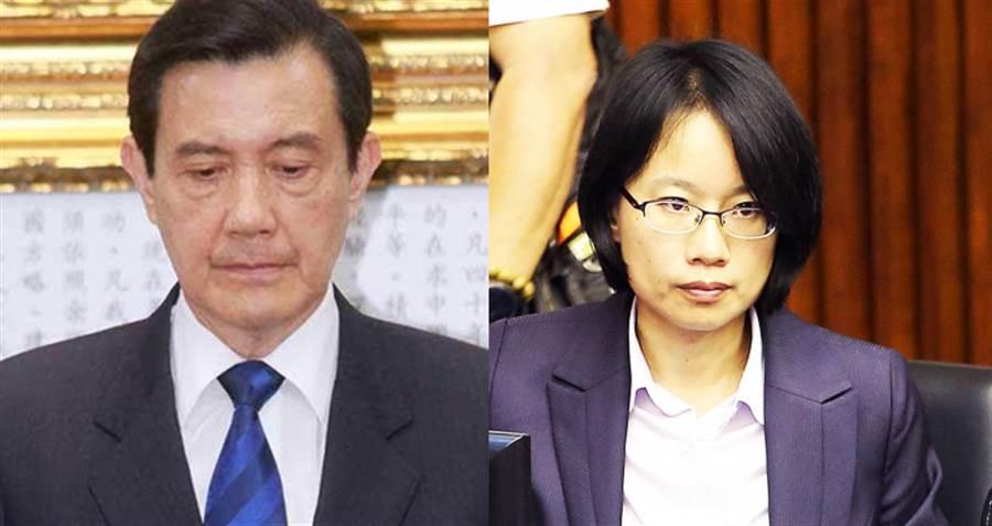 左為前總統馬英九、右為北農總經理吳音寧。(圖/本報資料照)