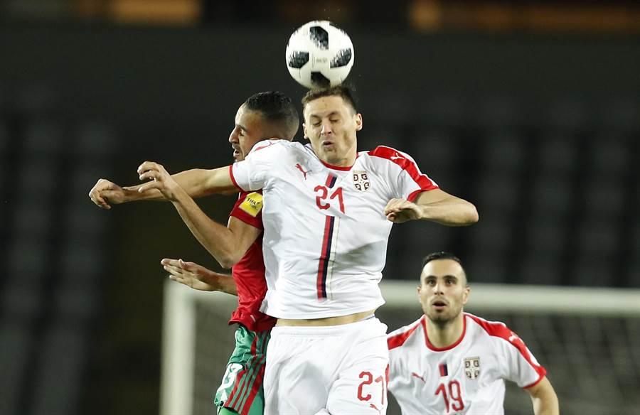 效力於曼聯的馬提奇,是塞爾維亞中場的防守核心。(美聯社資料照)