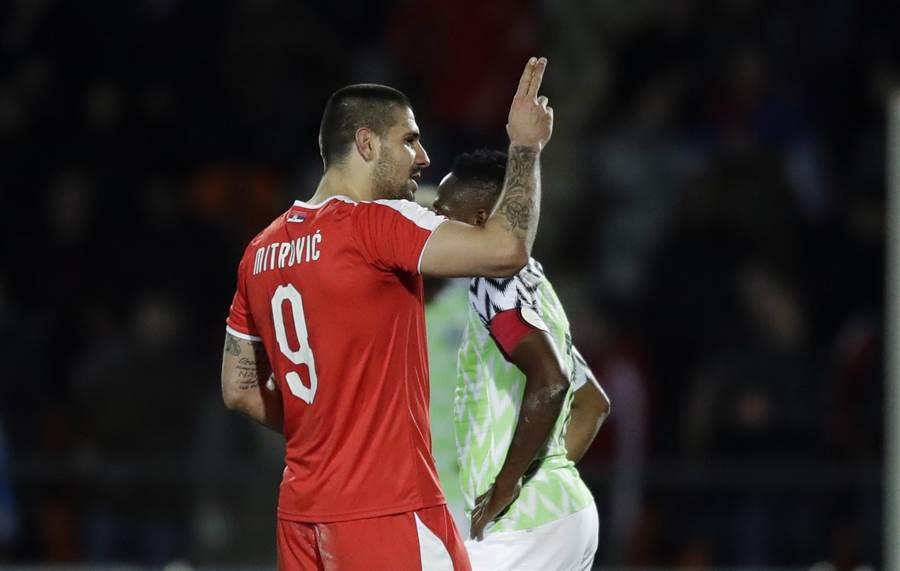 前鋒米卓維奇在資格賽攻入塞爾維亞全隊最多的6球,但本季被租借到英冠的富勒姆才得以穩定出賽。(美聯社資料照)