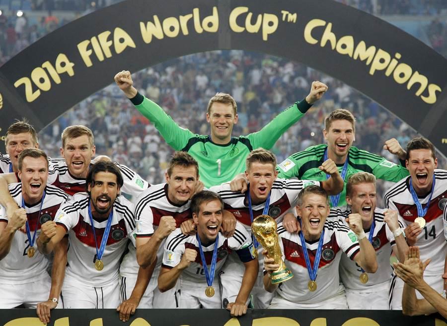 德國4年前在巴西舉起隊史第4座世足冠軍,這次到俄羅斯尋求衛冕。(美聯社資料照)