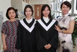 高雄大學首批學士學位陸生畢業 鼓勵學弟妹來台