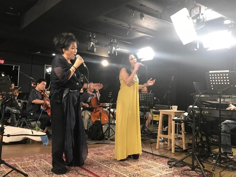 齊豫、潘越雲將於9日於台北小巨蛋舉辦「回聲」演唱會。(滾石唱片提供)