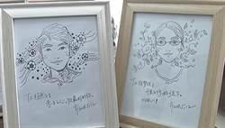 影〉贈128畢業生手繪肖像 美女輔導員:像與男友分手