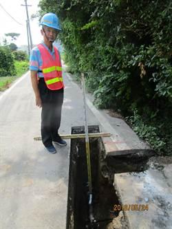 神岡區三民路自來水管線換新 改善用水品質
