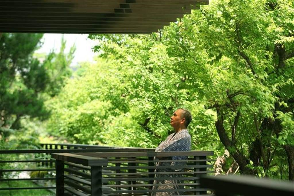 露臺被大樹包圍的居住環境,對台北市民而言,可說是夢寐以求。(李漢文攝)