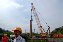嘉市鐵高臨時軌定樁施工 明年將封一半博愛陸橋