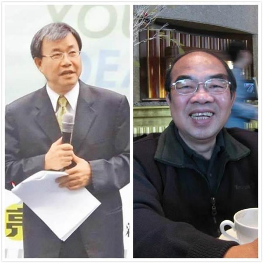 吳茂昆(右)請辭教育部長後,傳出最有可能的接班人是中山大學校長鄭英耀(左) (合成圖/本報資料照)
