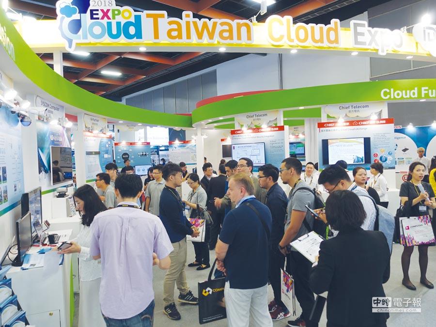 歐銀參訪團至臺灣雲端主題館進行參訪。圖/工業局提供