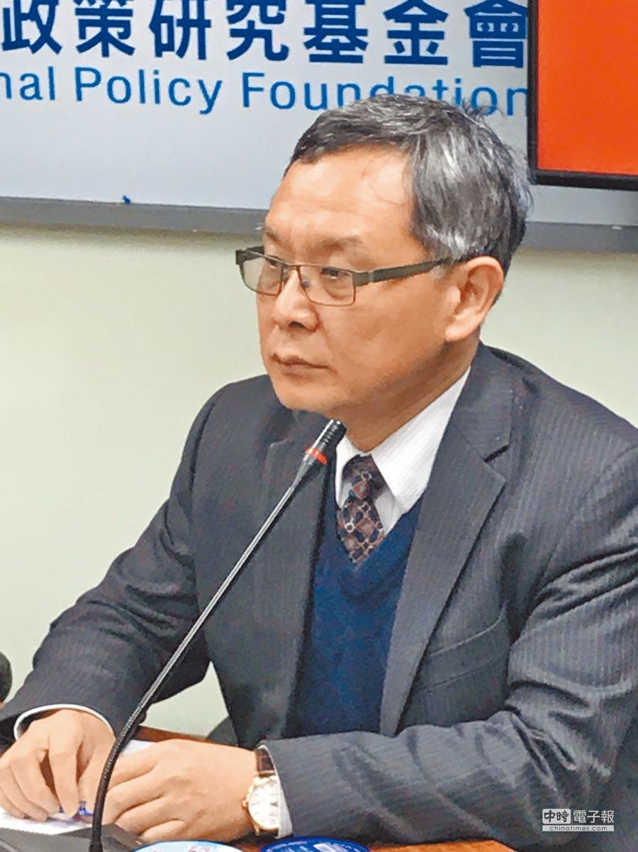 淡江大學國際研究學院院長王高成。(記者呂佳蓉攝)