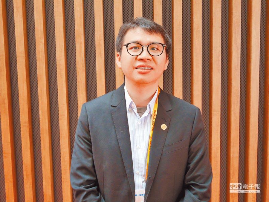 北京首鋼基金創業公社港澳台事務部總經理鄭博宇。(記者陳君碩攝)