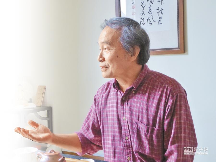 台灣作家楊渡。(記者李文輝攝)