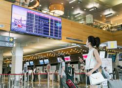 友達55吋極窄邊框拼接牆顯示器進駐松山機場